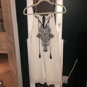 White flowy detailed dress